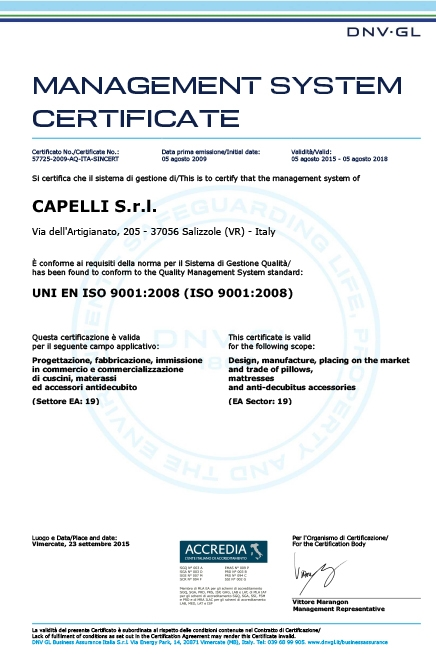 Management System Certificate 2008